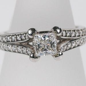Ajaffe Signature Princess cut diamond ring